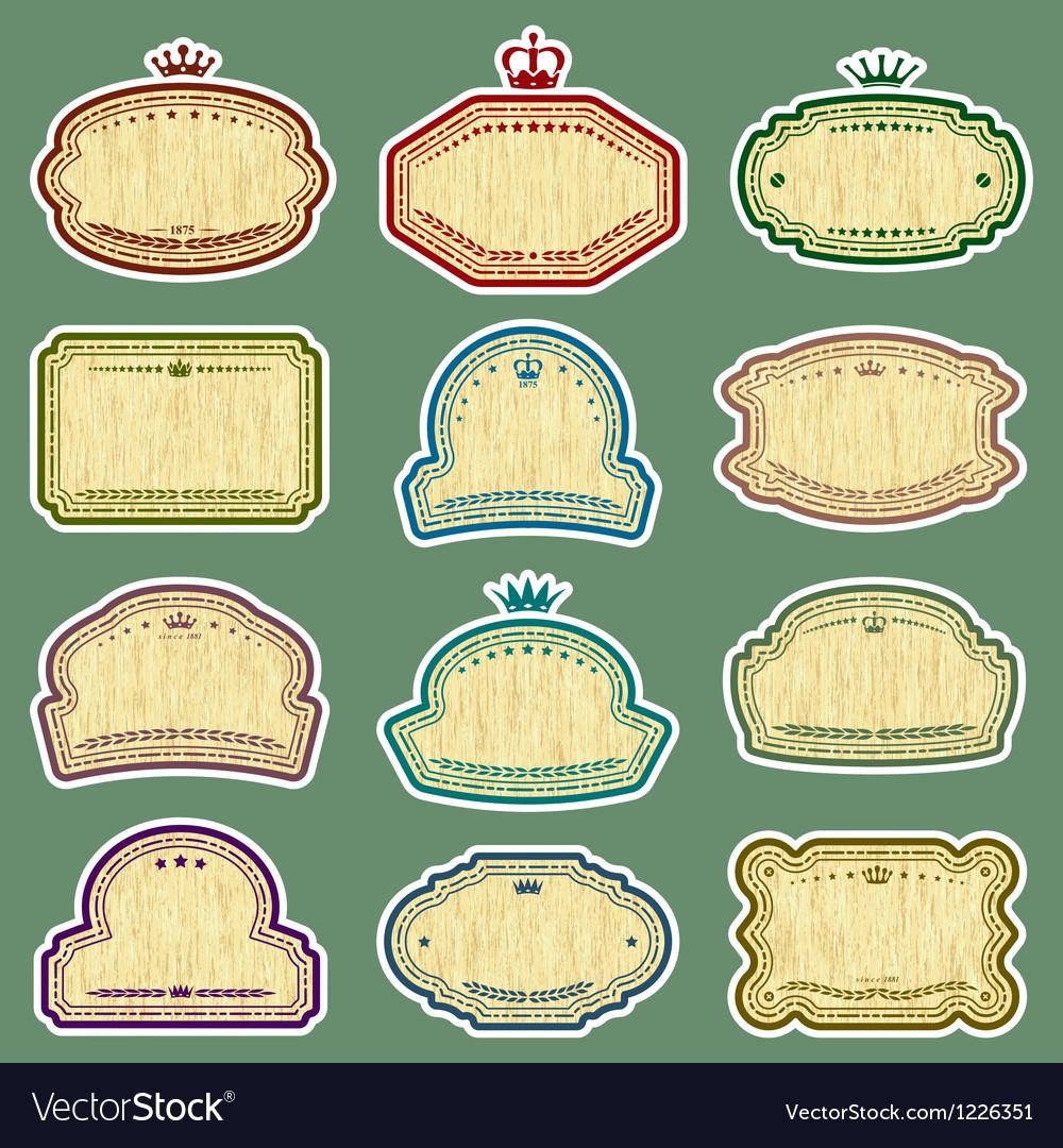 Grunge labels set vector image