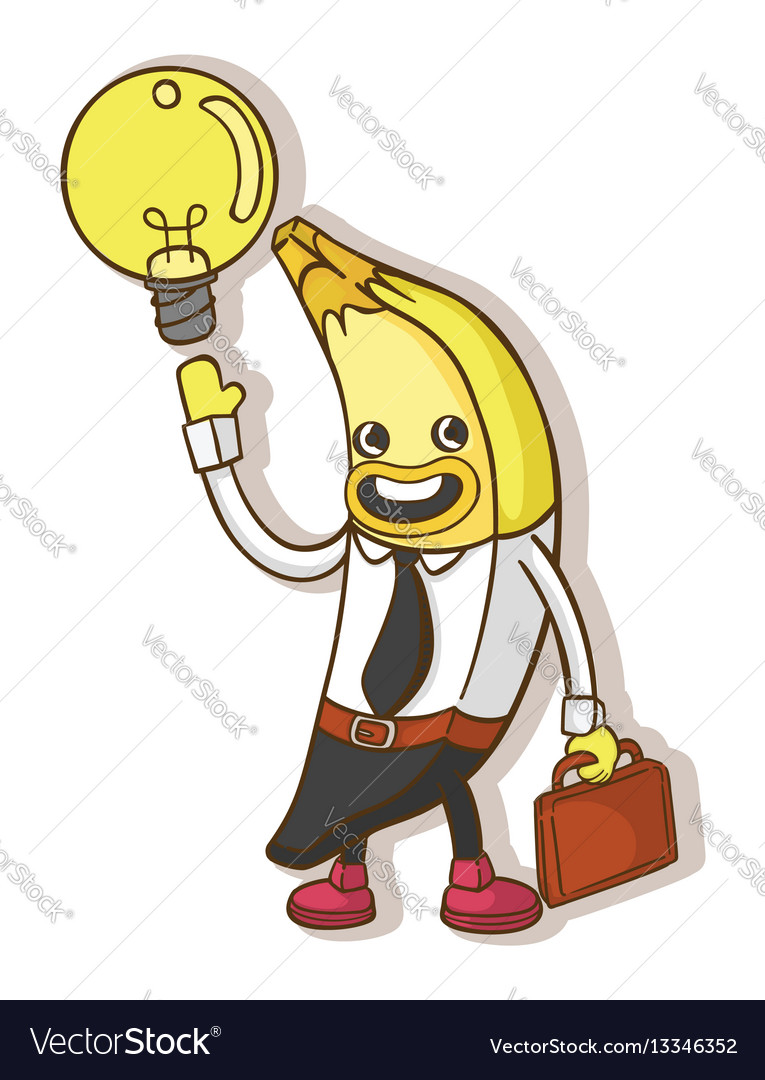 Concept cartoon business bananas vector image