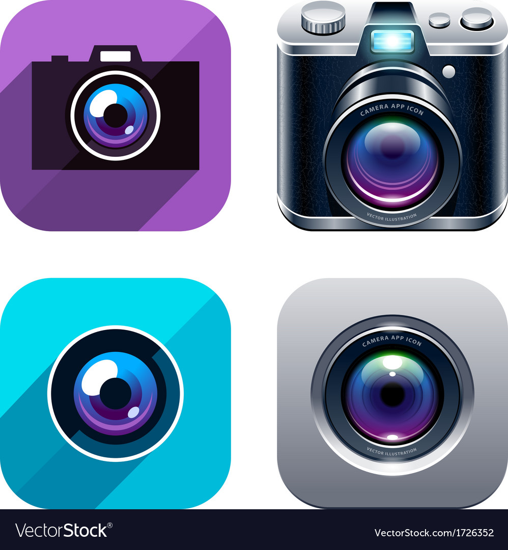 Photo Icons Set vector image
