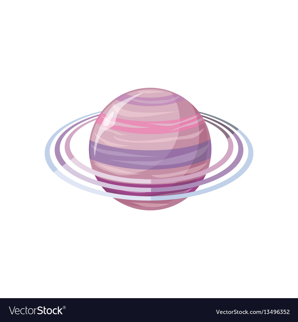 Saturn planet sun system universe vector image
