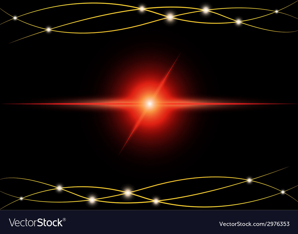 Red Abstract beam Light vector image