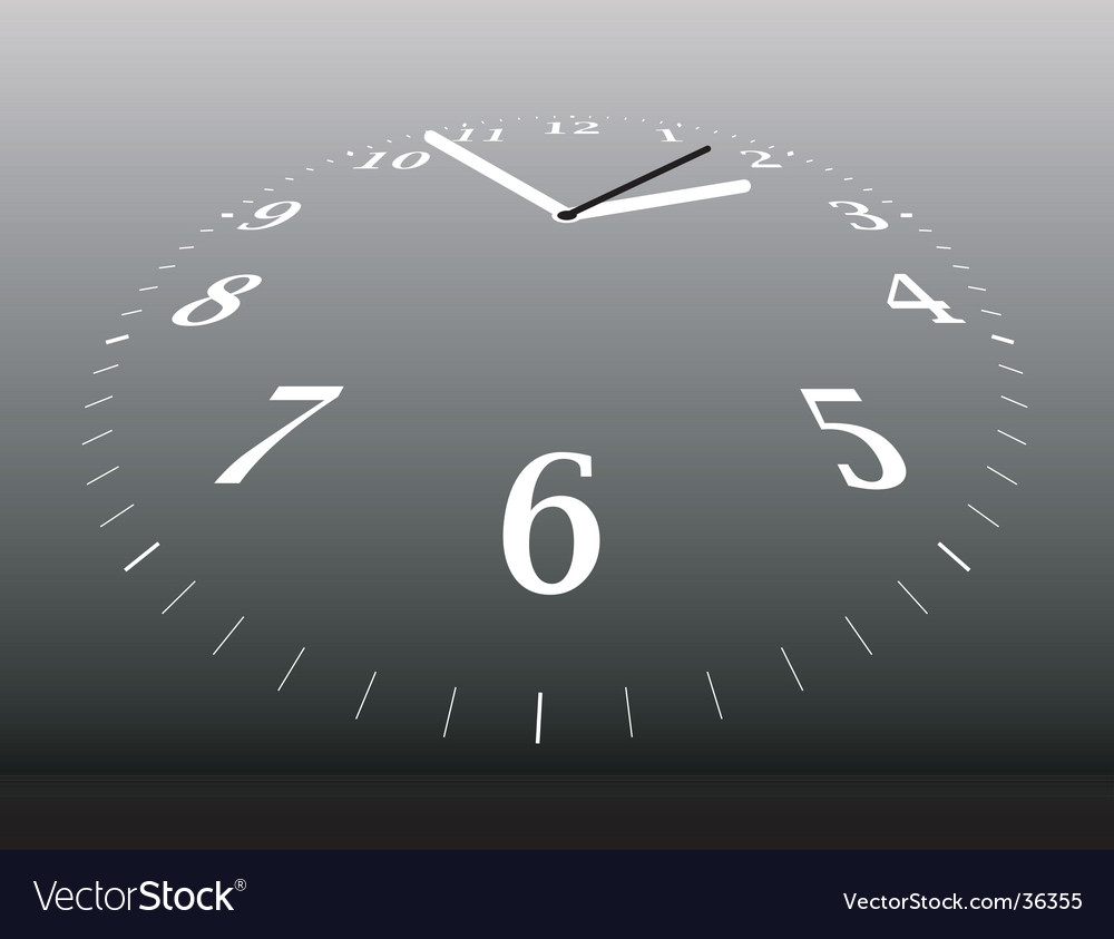 Clock distant vector image