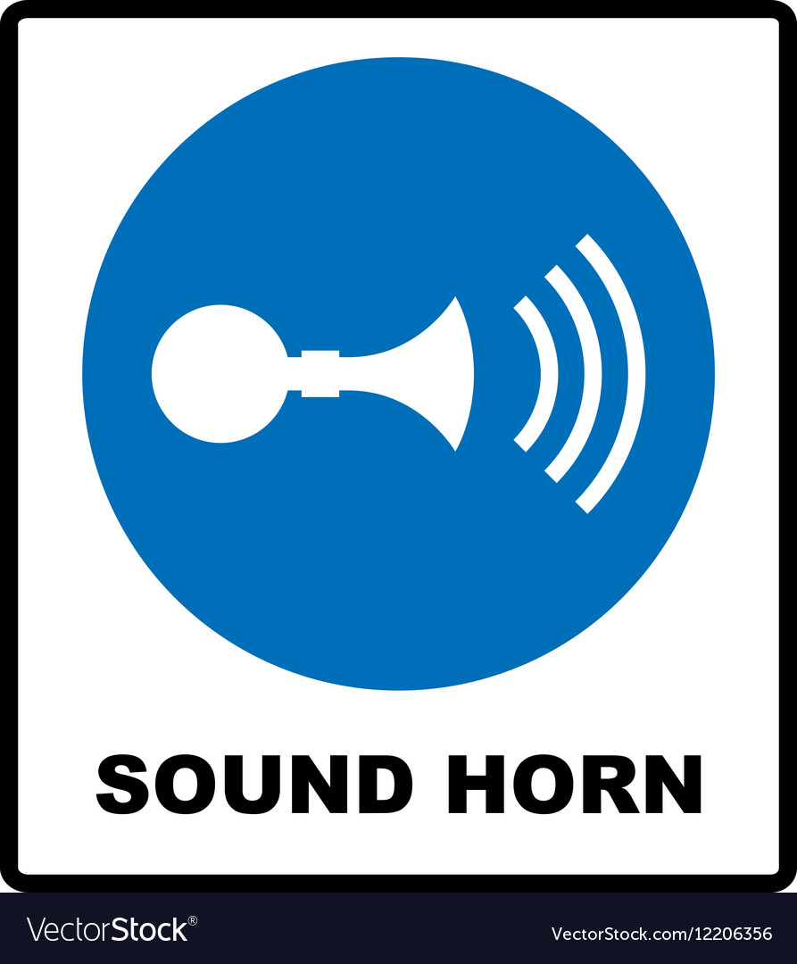 Sound horn sign vector image