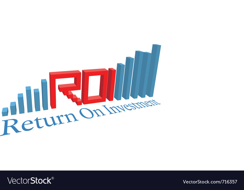 Investment acronym word vector image