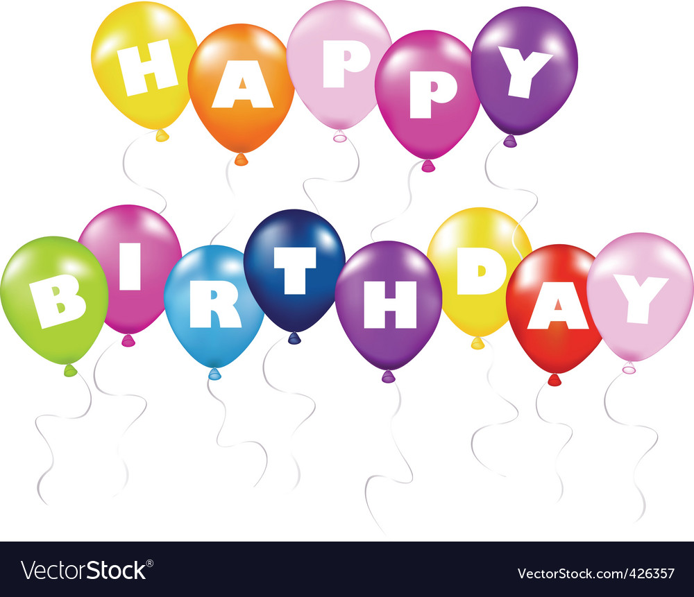 Birthday decorations Royalty Free Vector Image