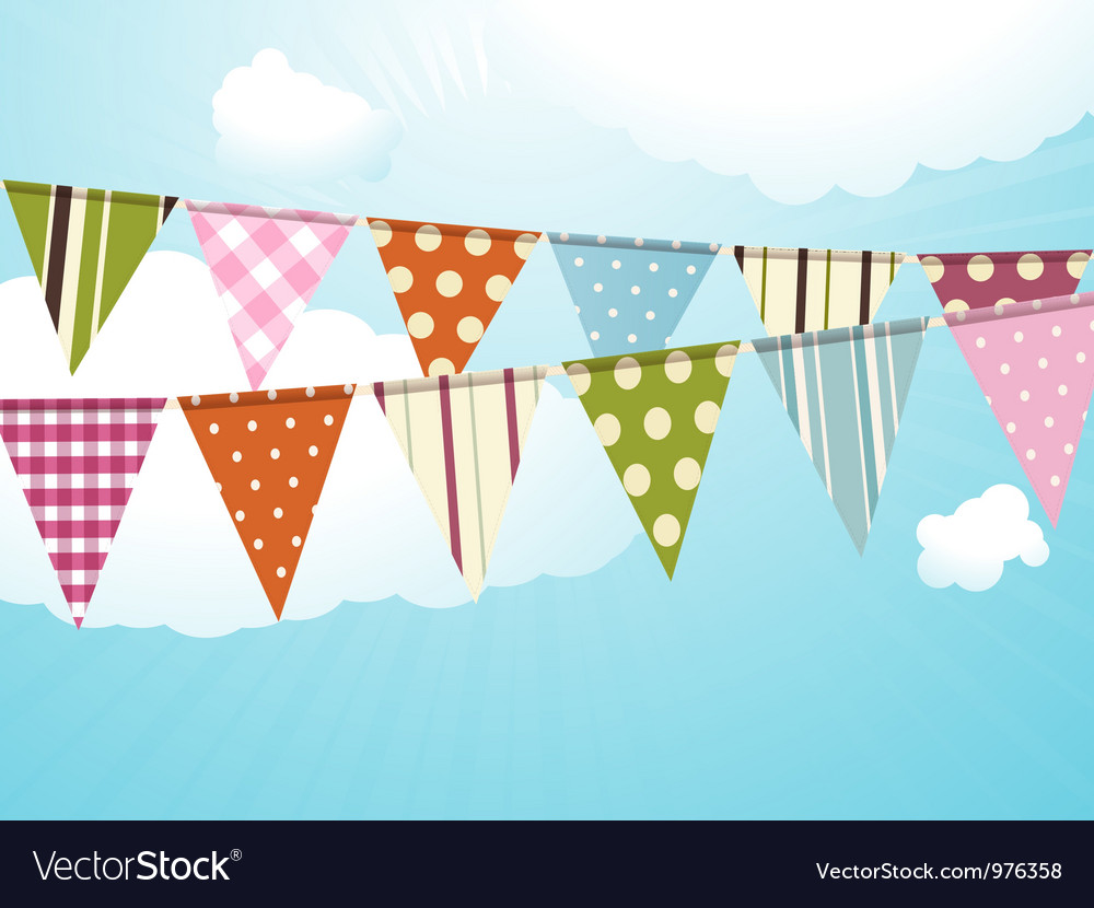 Flags background vector image