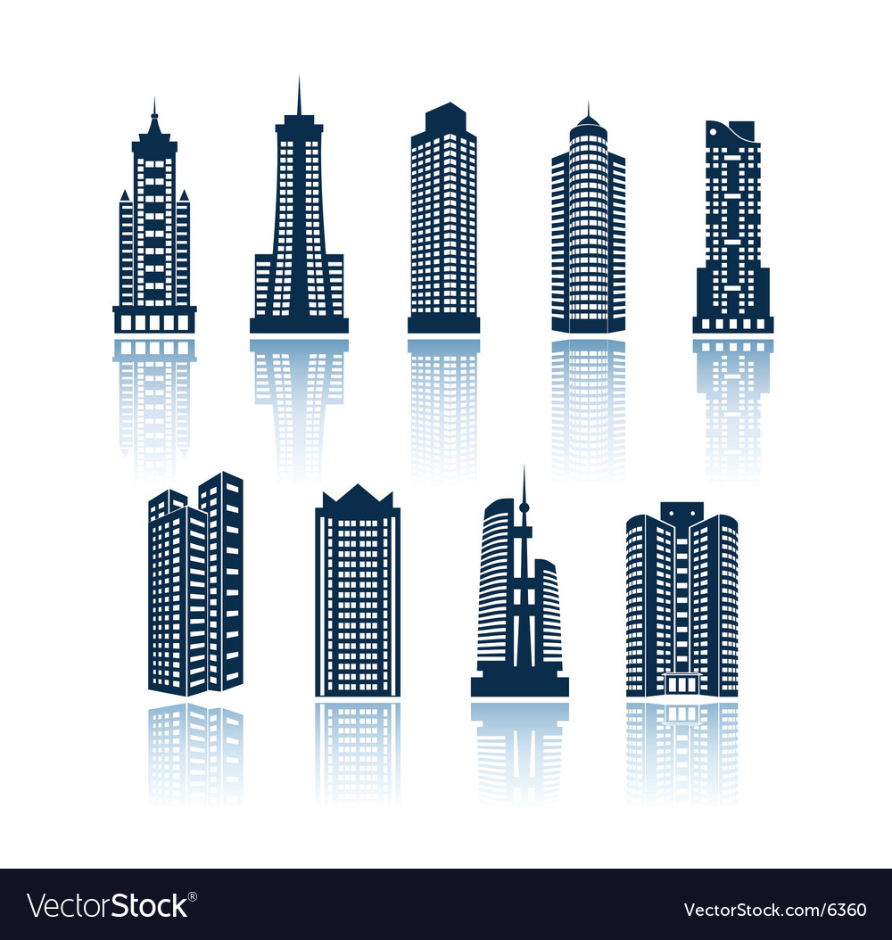 Buildings silhouettes vector image