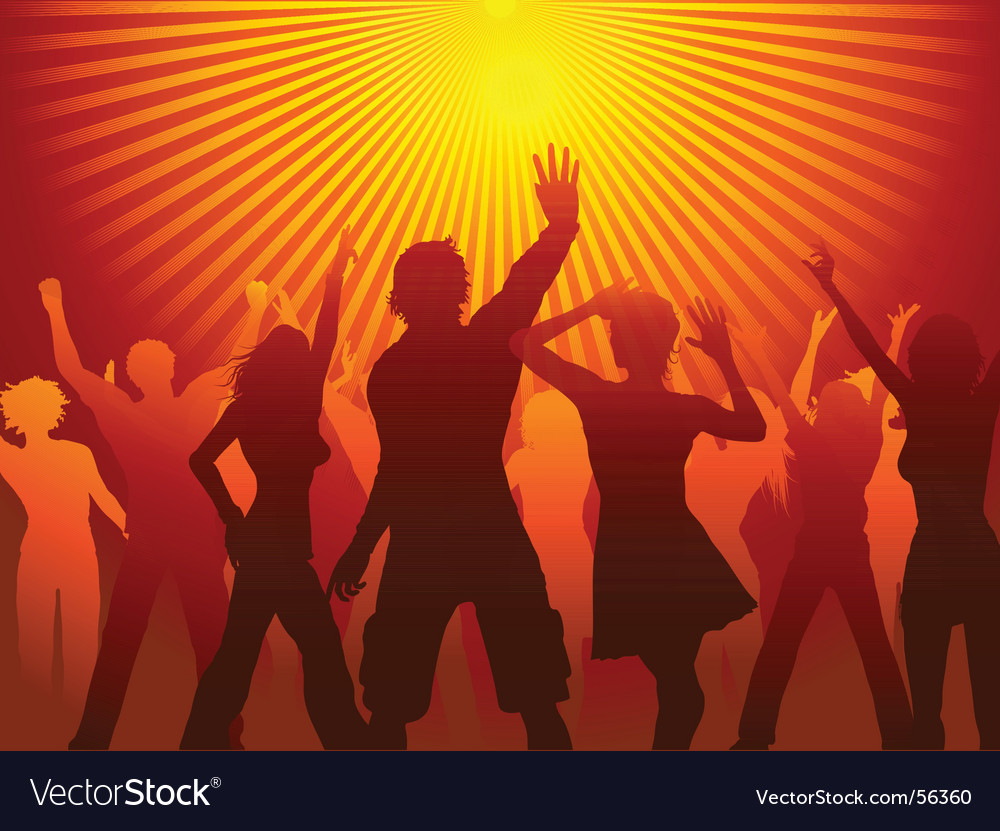Disco time vector image
