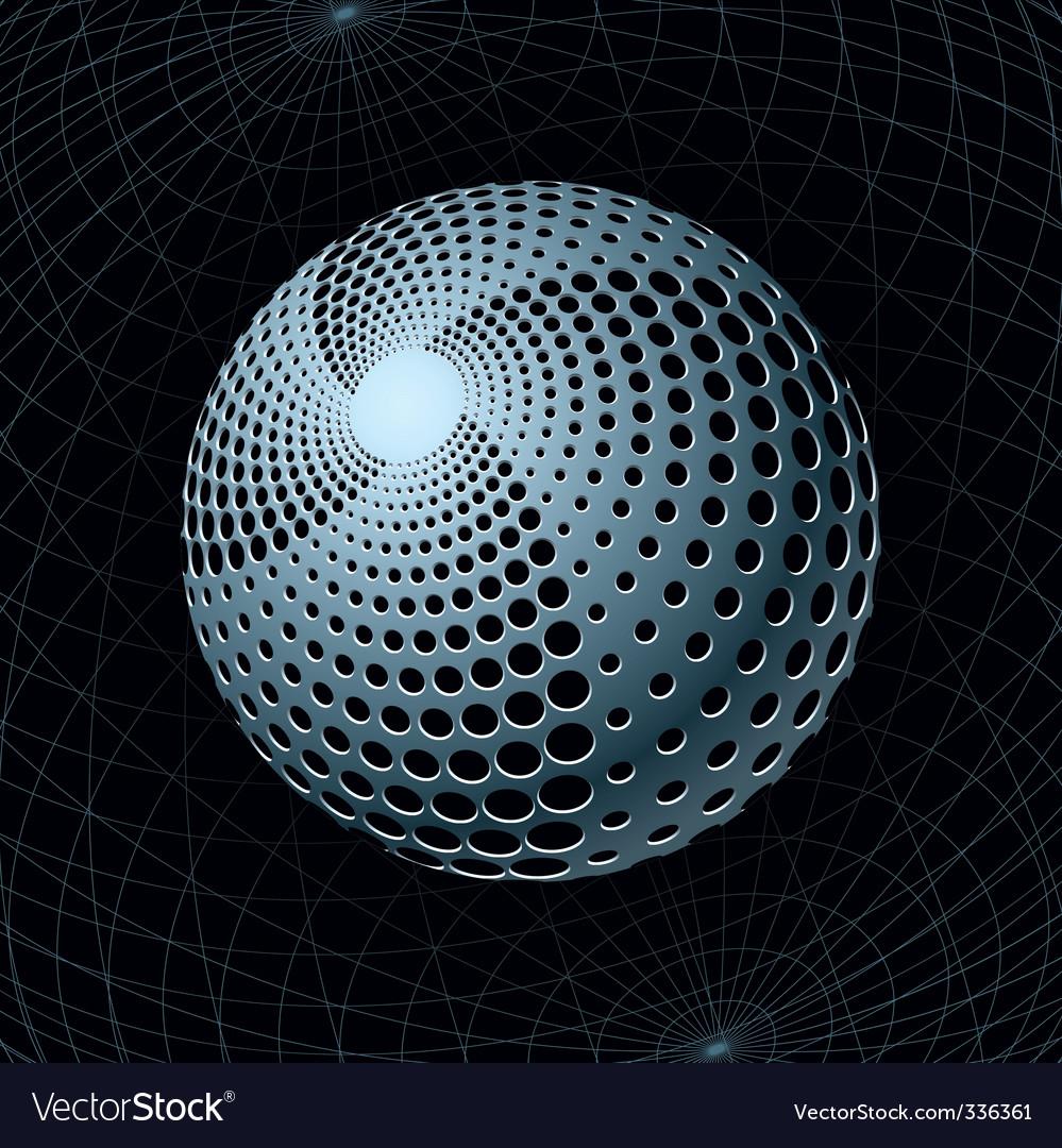 Gravity sphere vector image