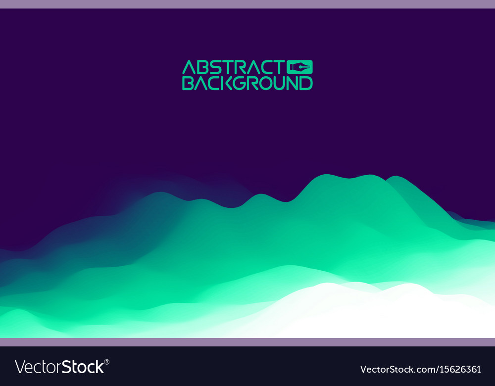 3d landscape background purple gradient abstract vector image