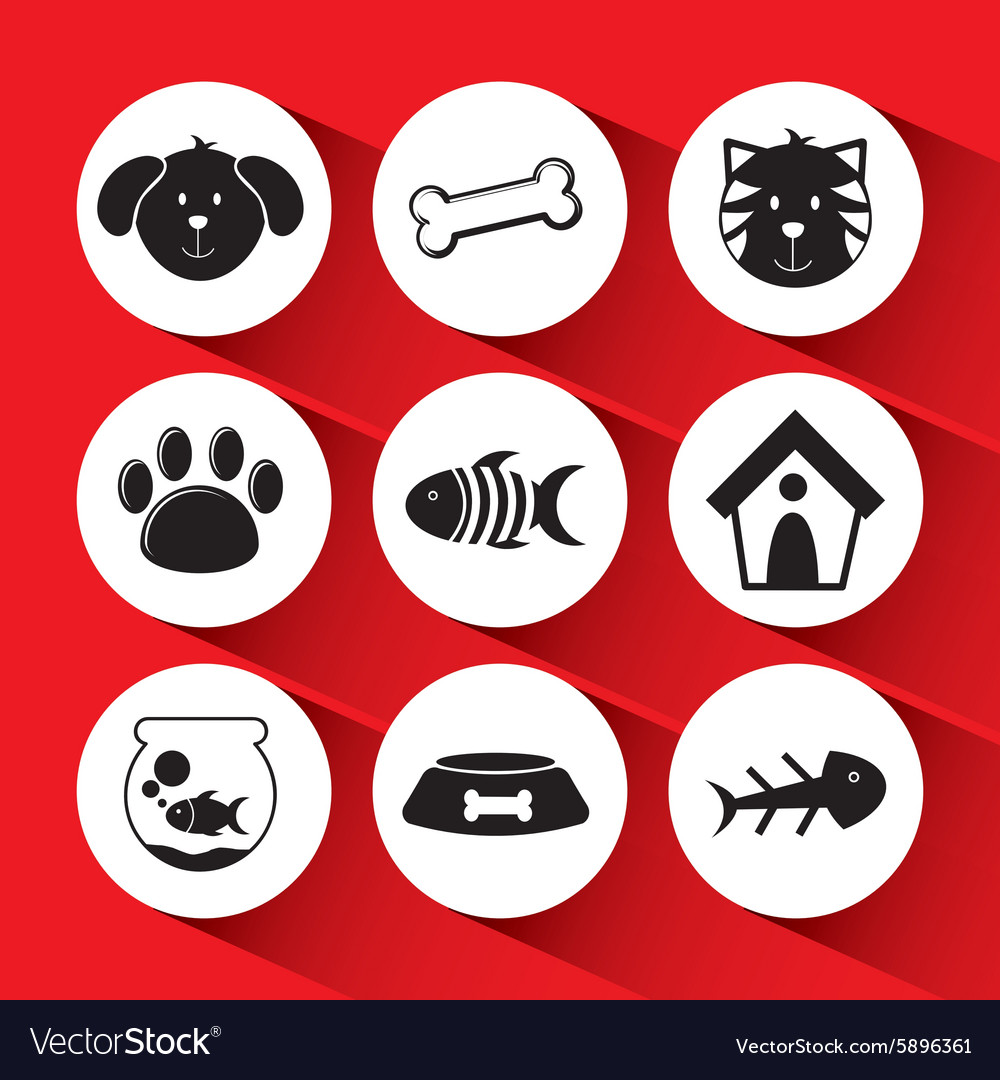 Pet icons vector image