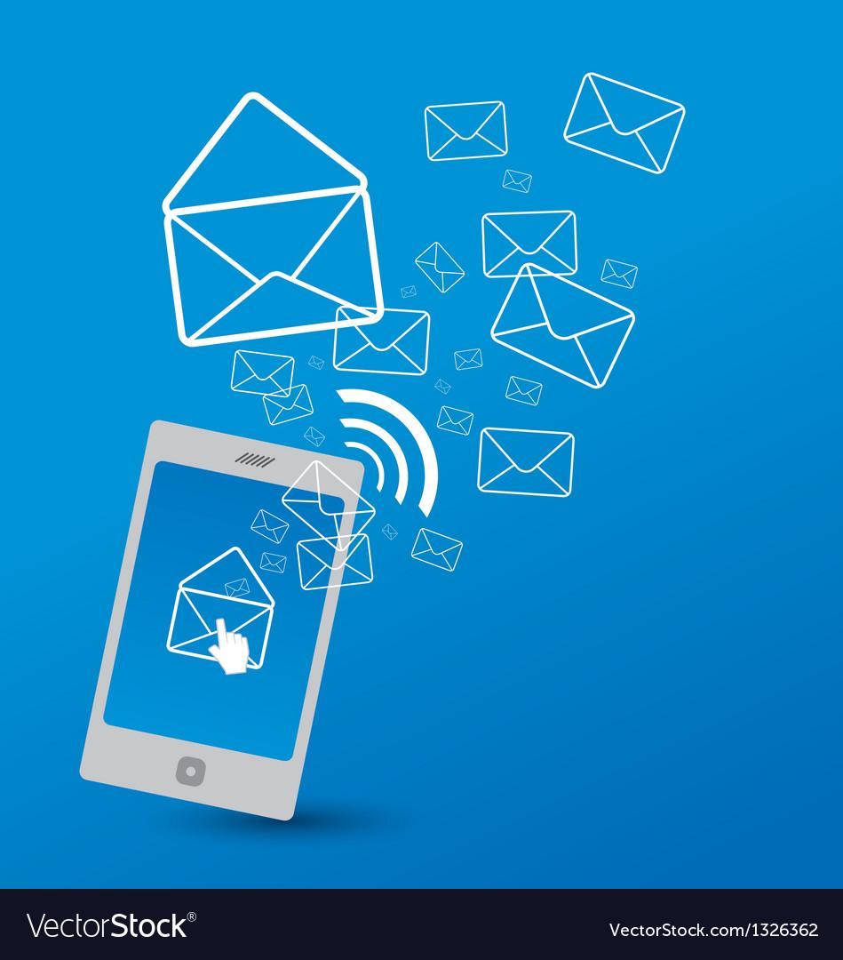 Sending SMS vector image