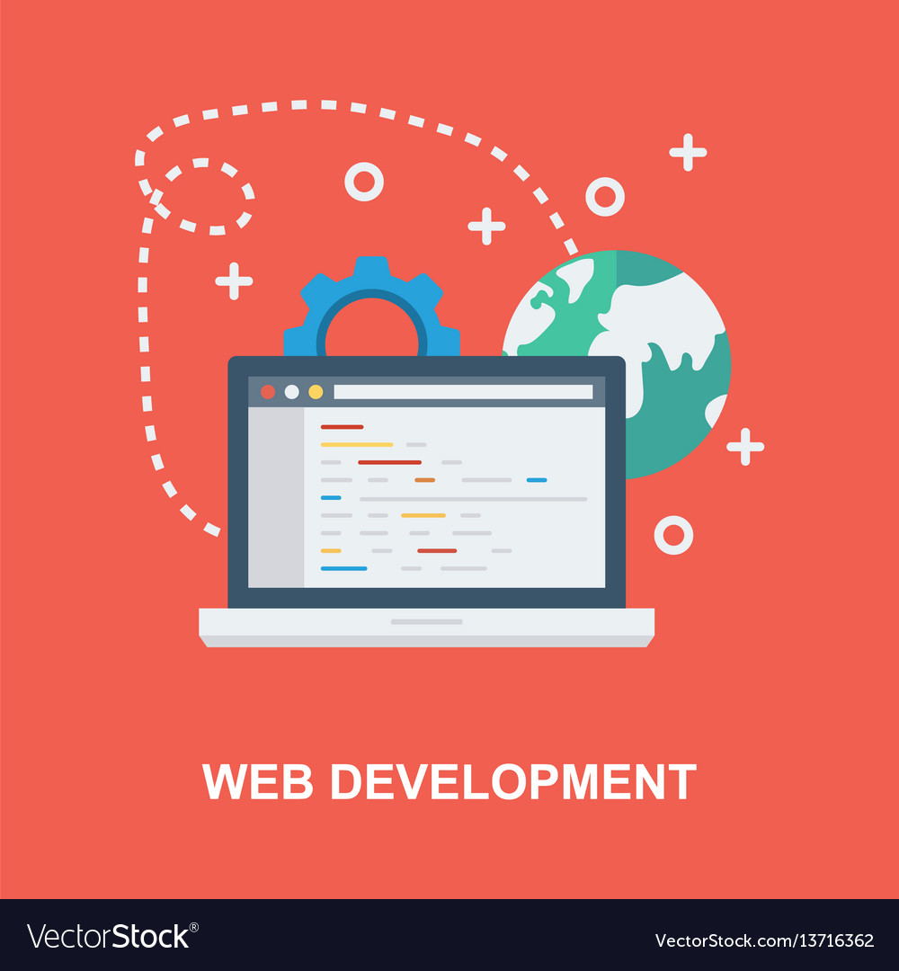 Web development concept design vector image