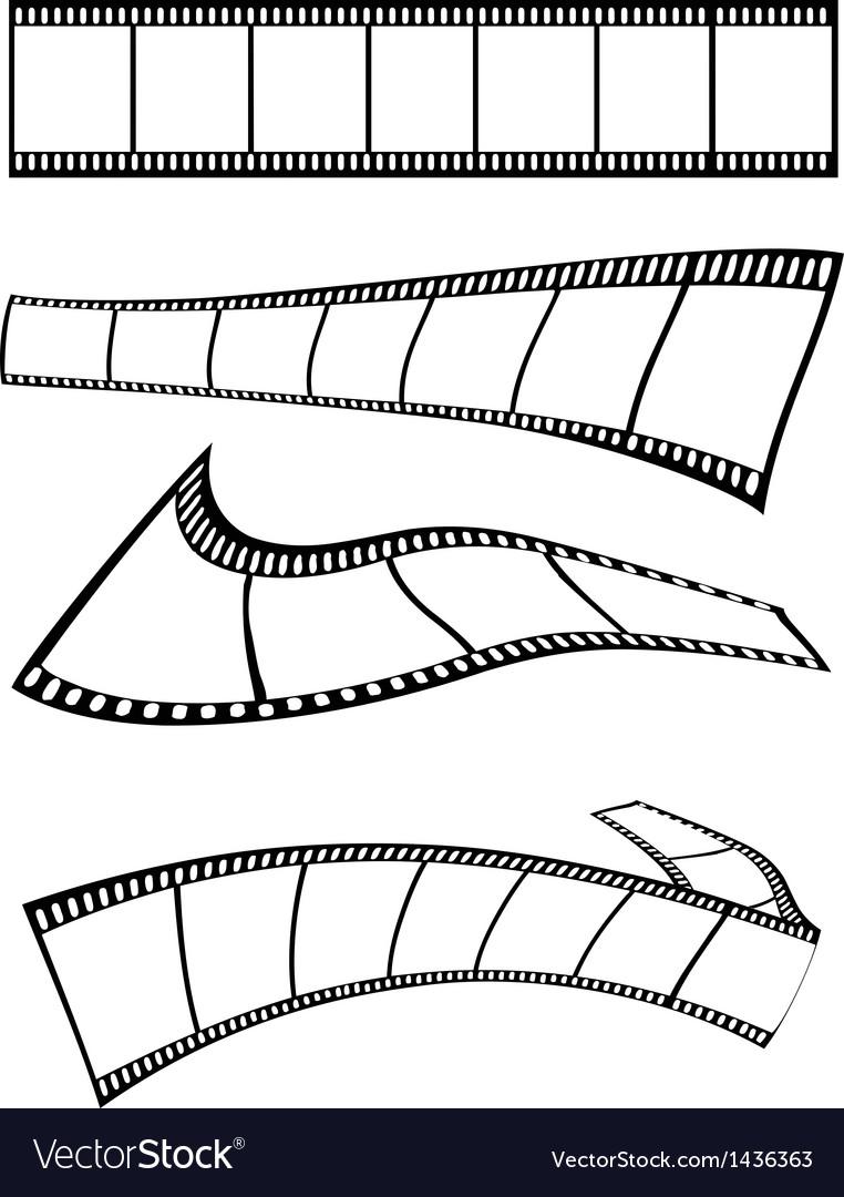 Film strips design vector image