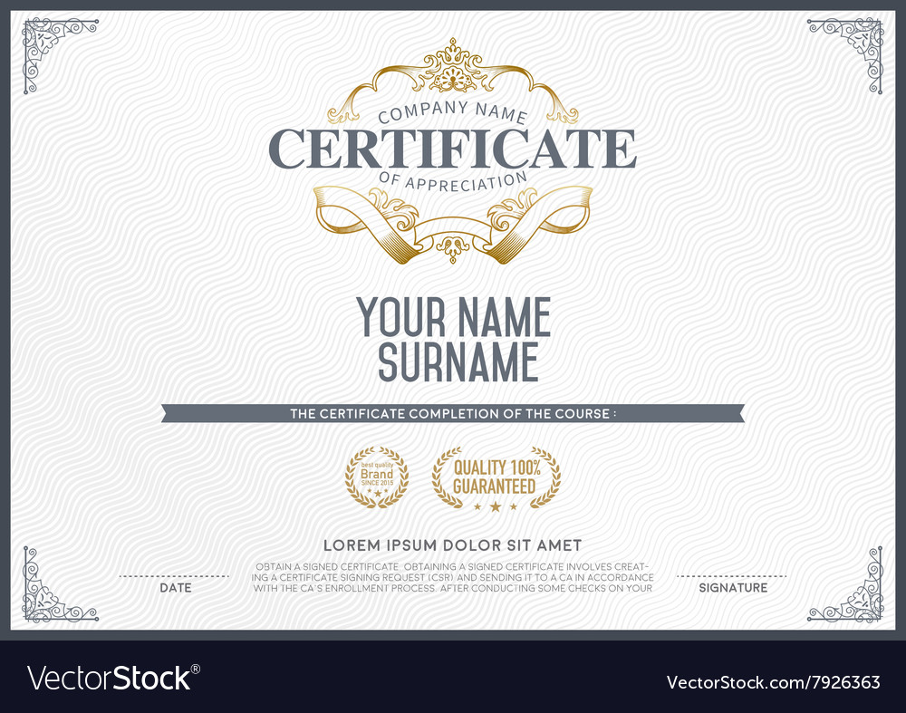 Stock certificate template royalty free vector image stock certificate template vector image yelopaper Image collections