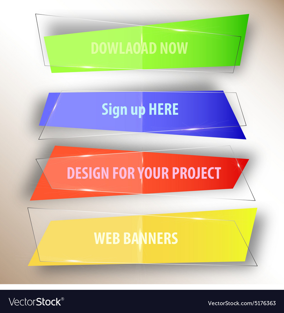 Web-BANNERS vector image
