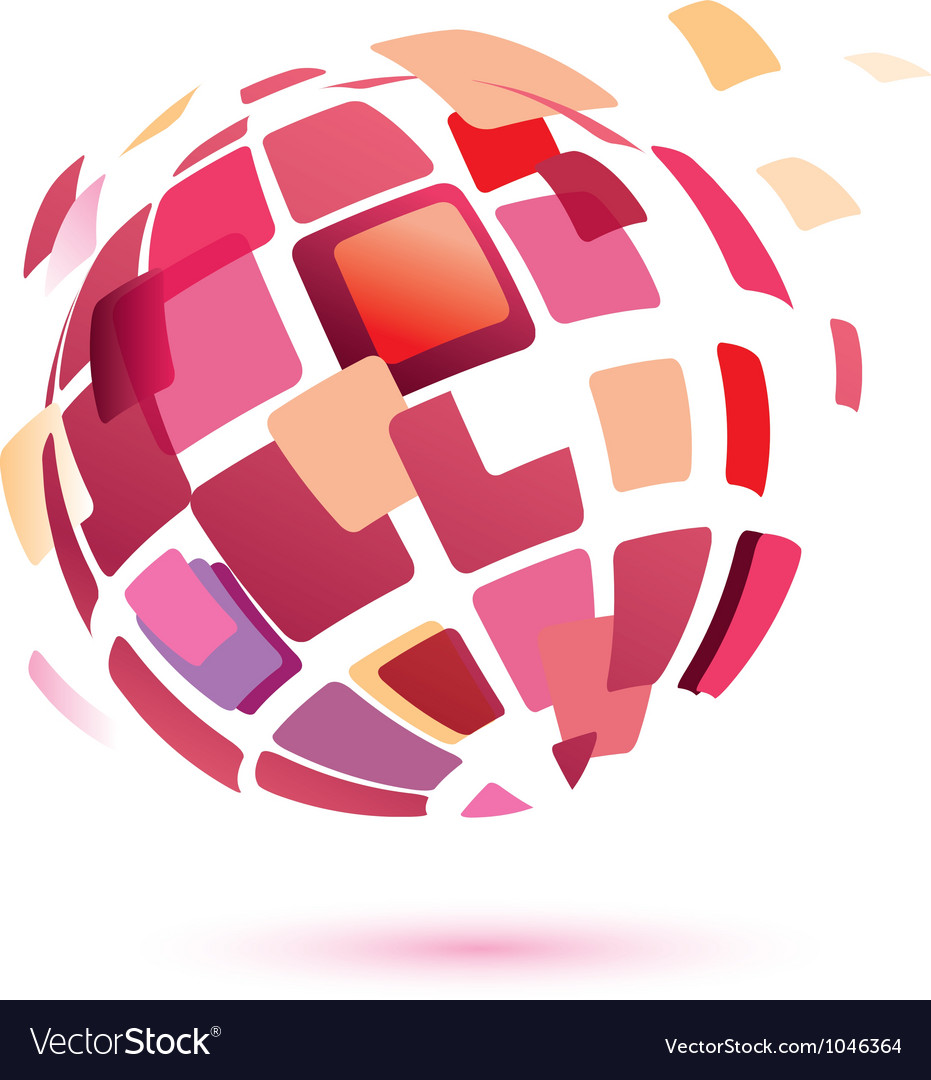 Abstract globe symbol business icon vector image