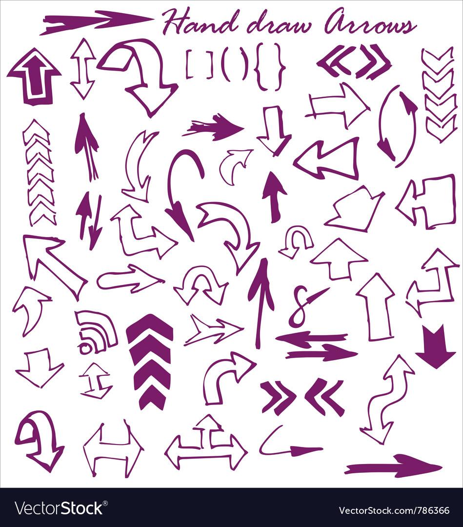 Hand draw arrows Vector Image
