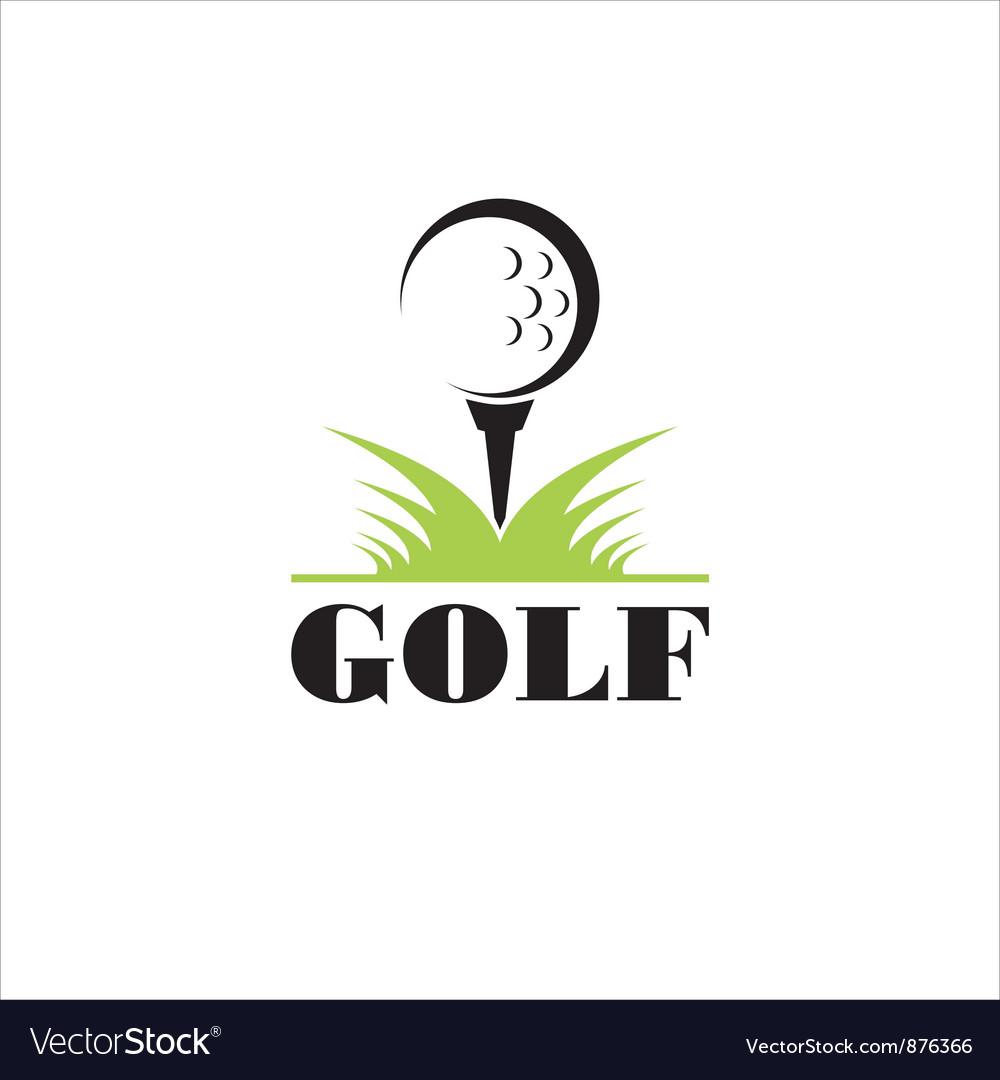 Golf icon symbol Vector Image