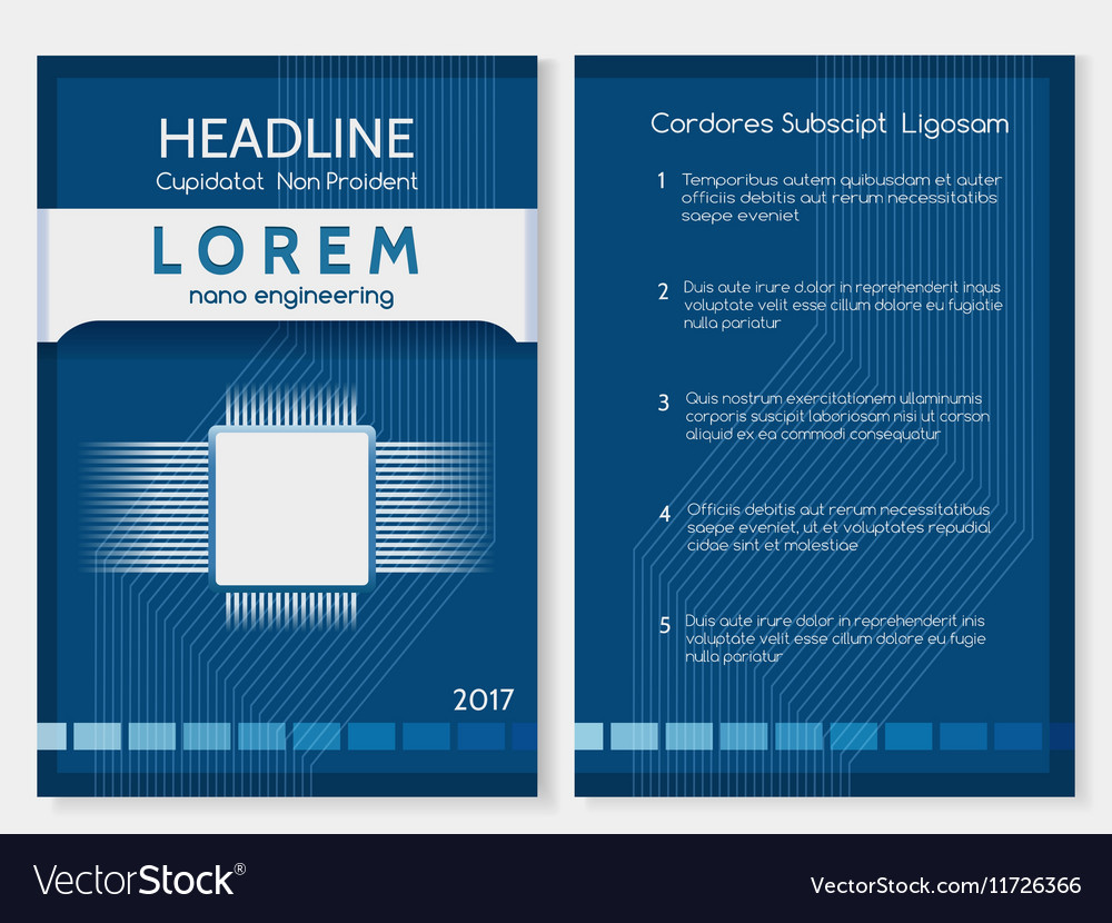 Industrial Technology Brochure Or Booklet Template Vector Image