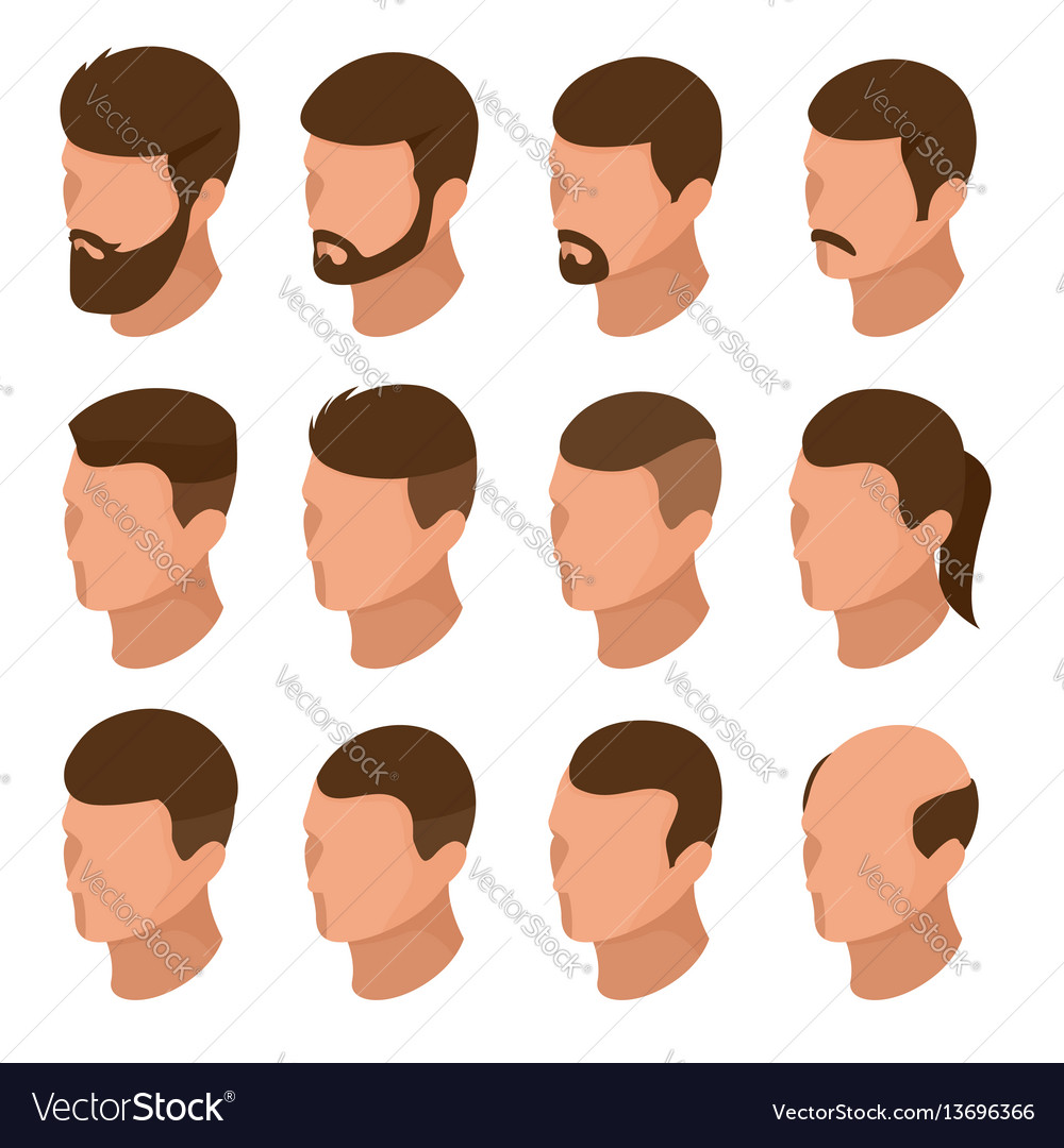 Isometric businessman or male person character vector image