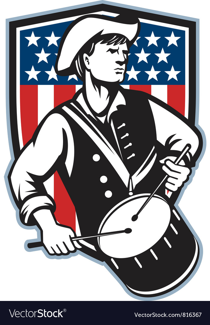 American Patriot Vector Image