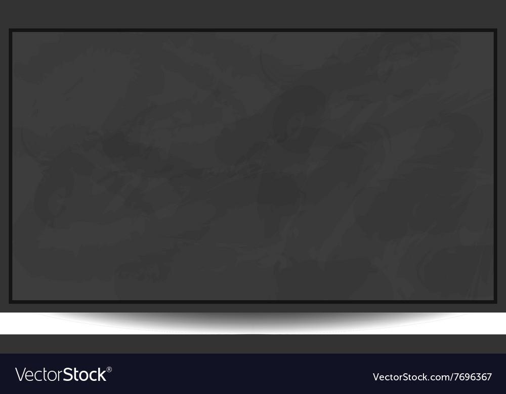 Black chalkboard background eps 10 vector image
