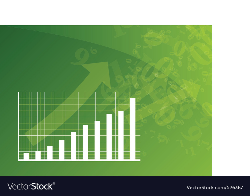 Green graph vector image