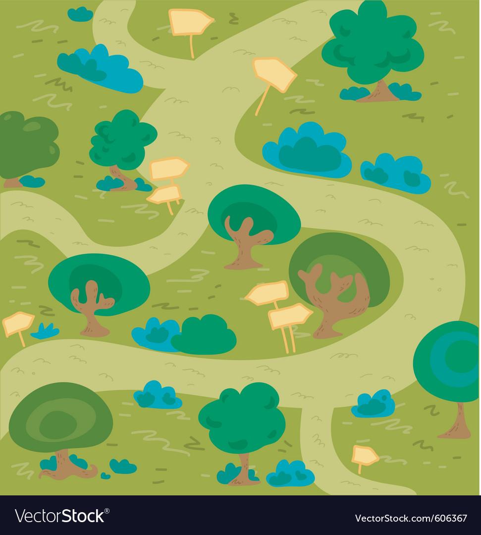 Labyrinth wood vector image