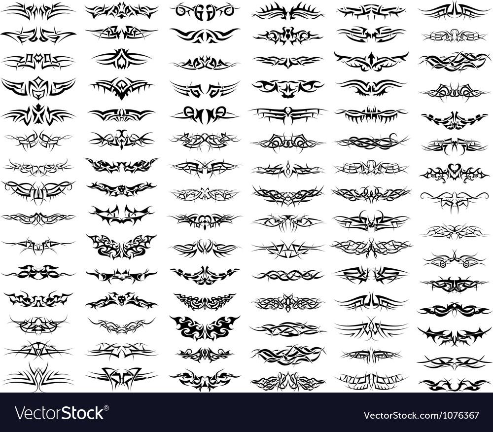 Tattoo Set vector image