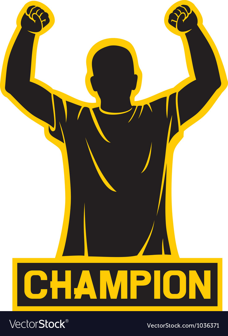 Sport fan - champion design vector image