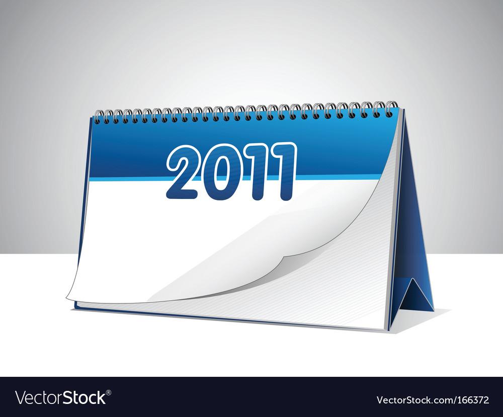 Blank calendar Vector Image