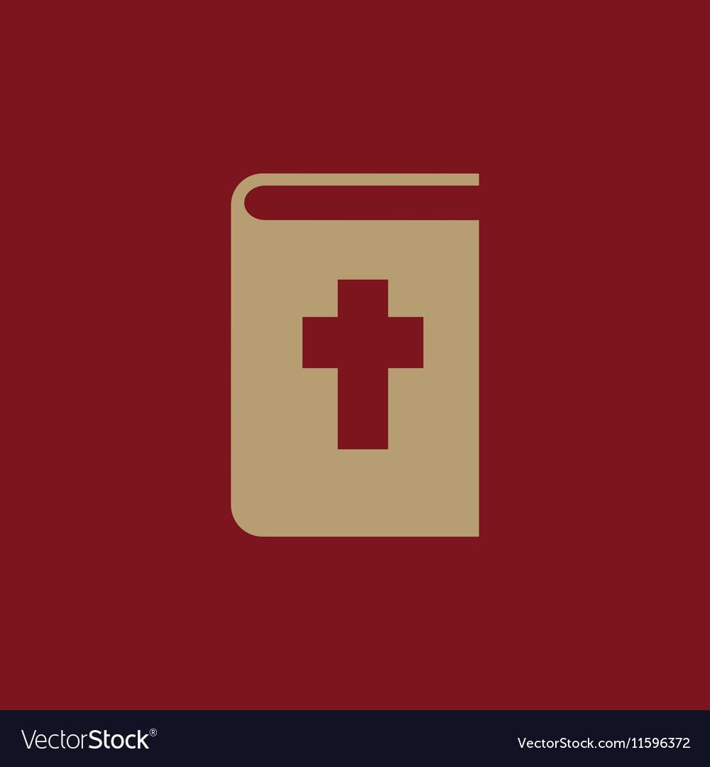 Bible icon design Religion Bible symbol vector image