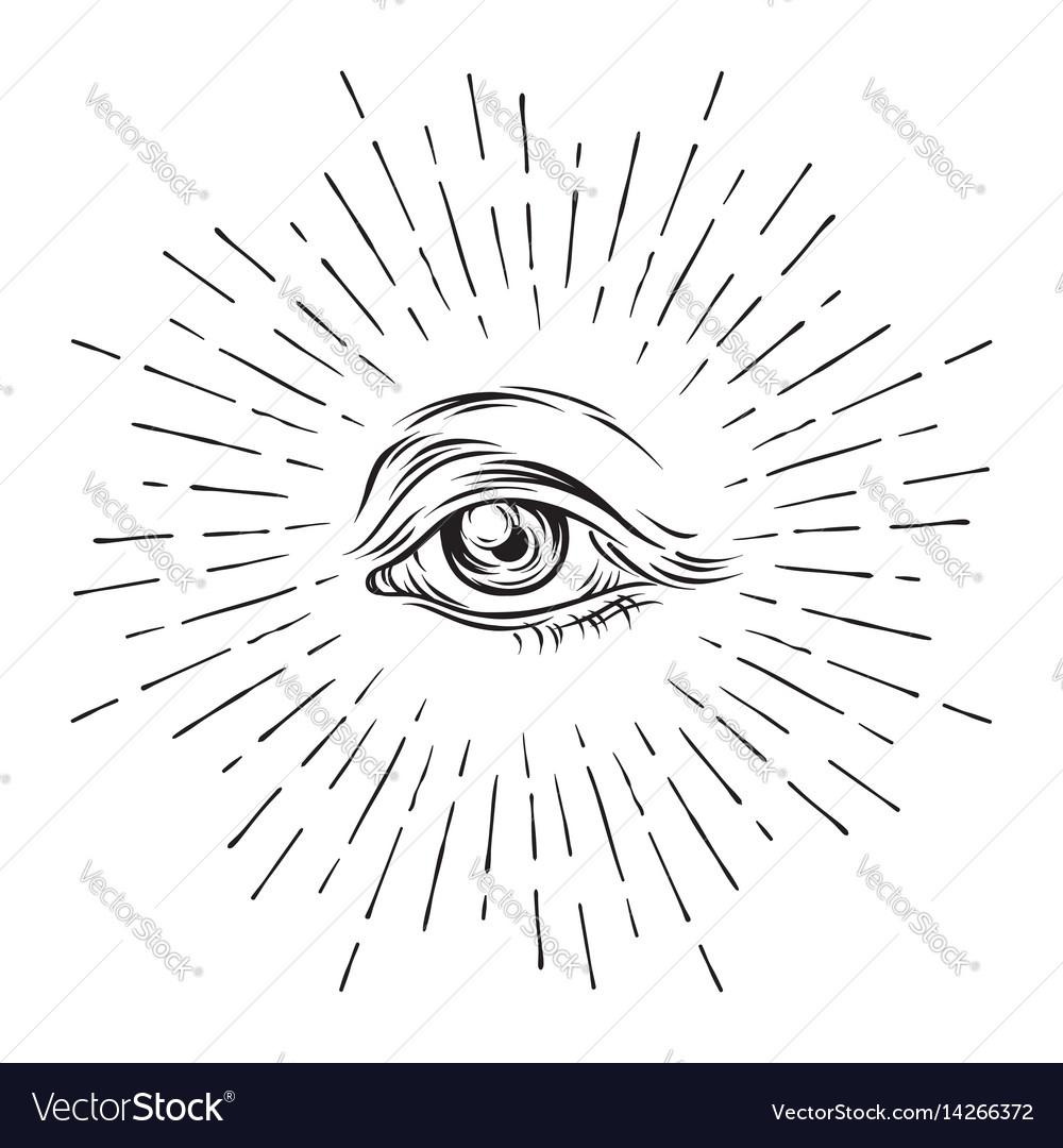 Eye of providence all seeing eye masonic symbol vector image