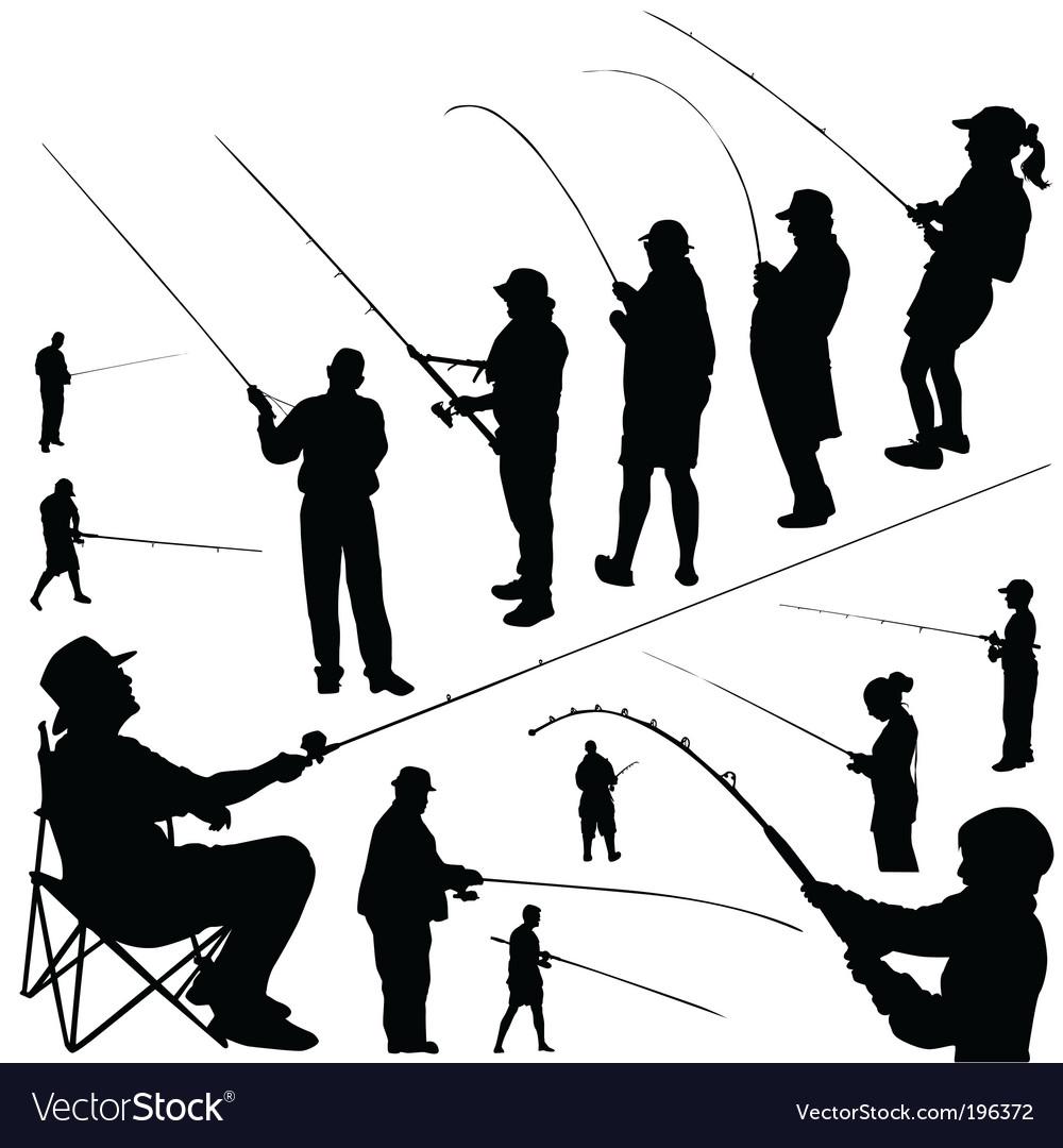Fishermen vector image