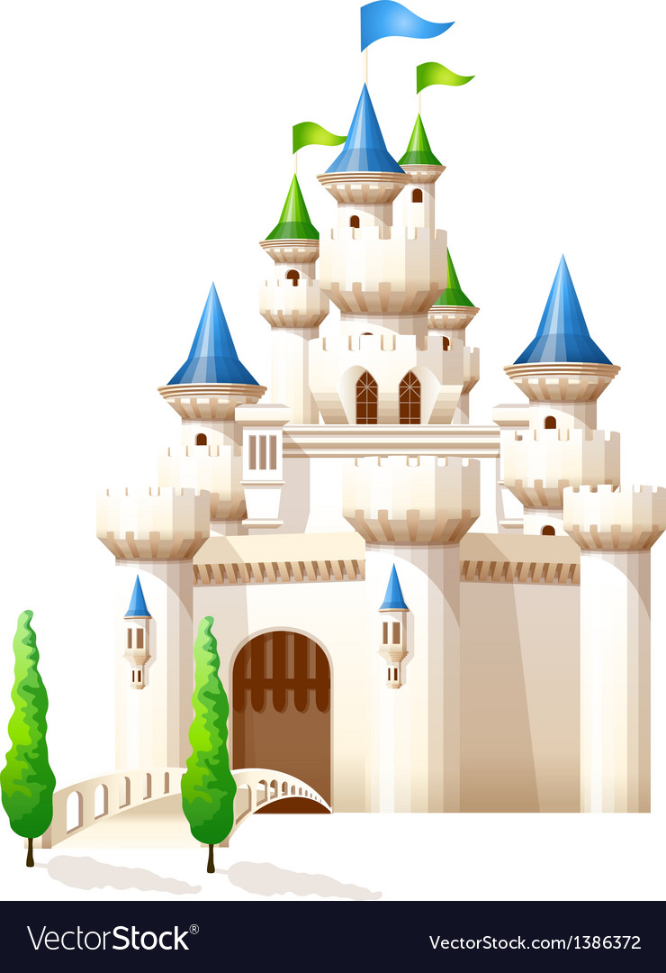 Icon castle vector image
