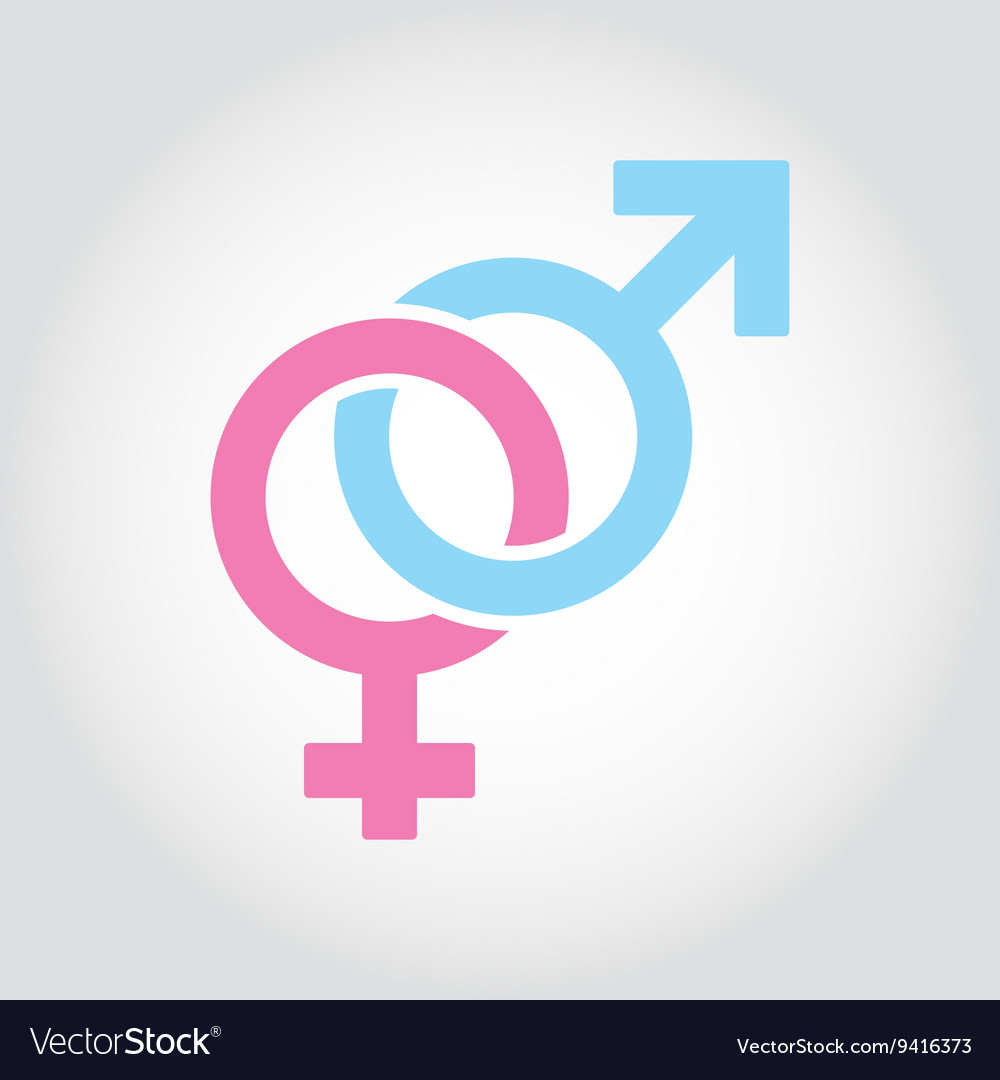 Flat line sex symbol icon set vector image