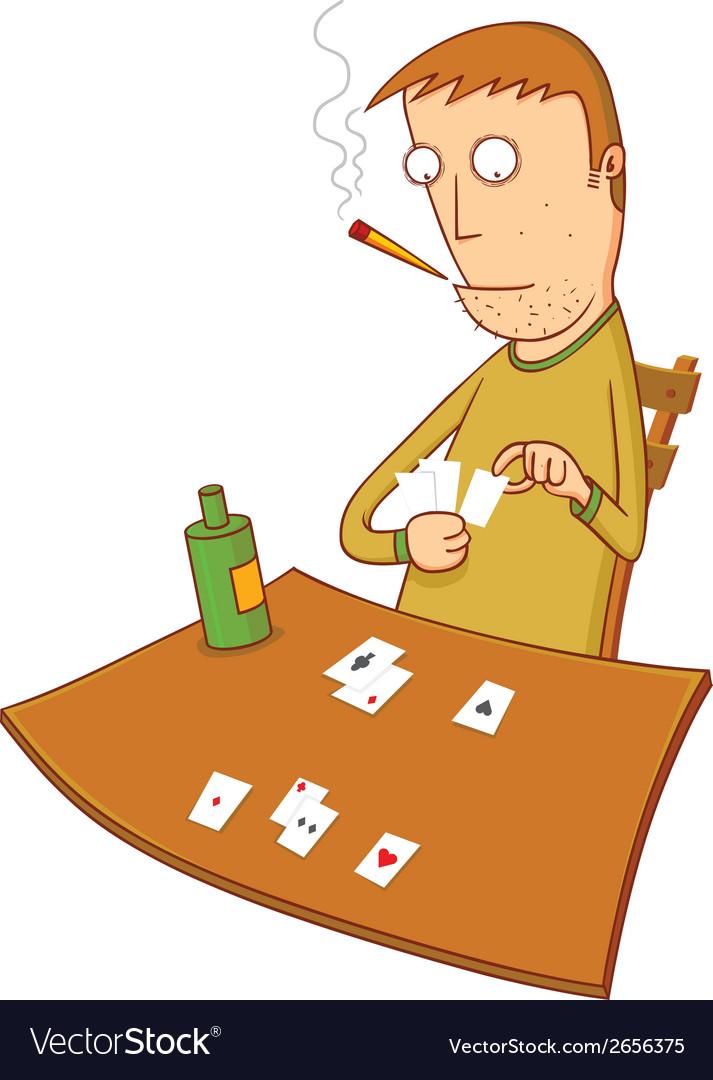 Gambler vector image