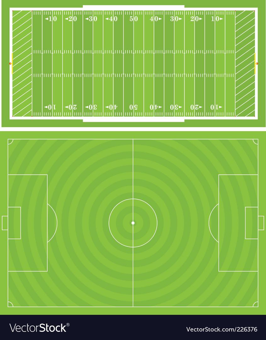 Sportsfields vector image