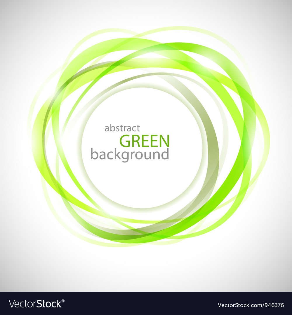 Abstract green rigns vector image