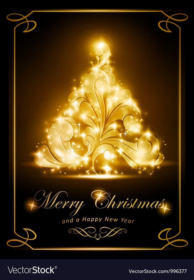 Elegant Christmas card party invitation vector image