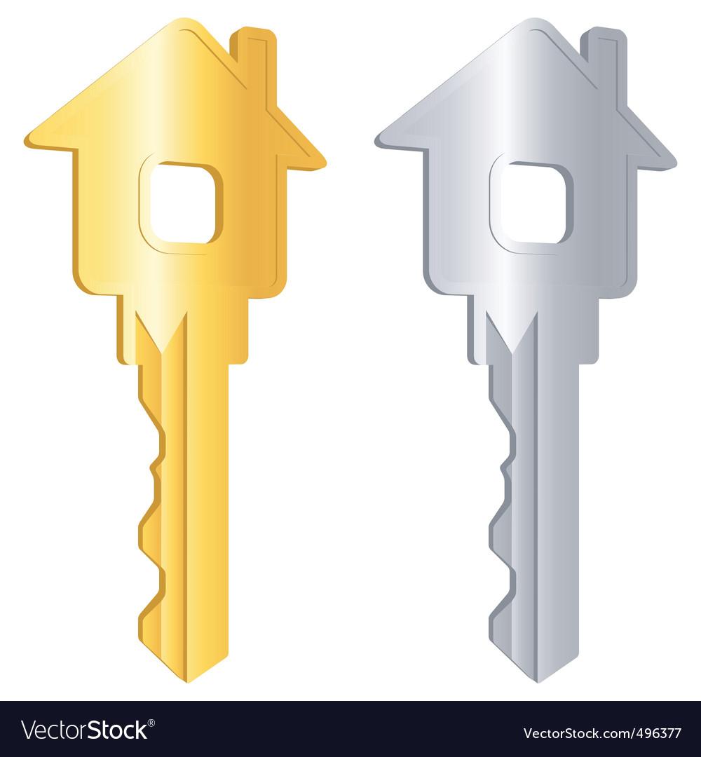 Keys for home vector image