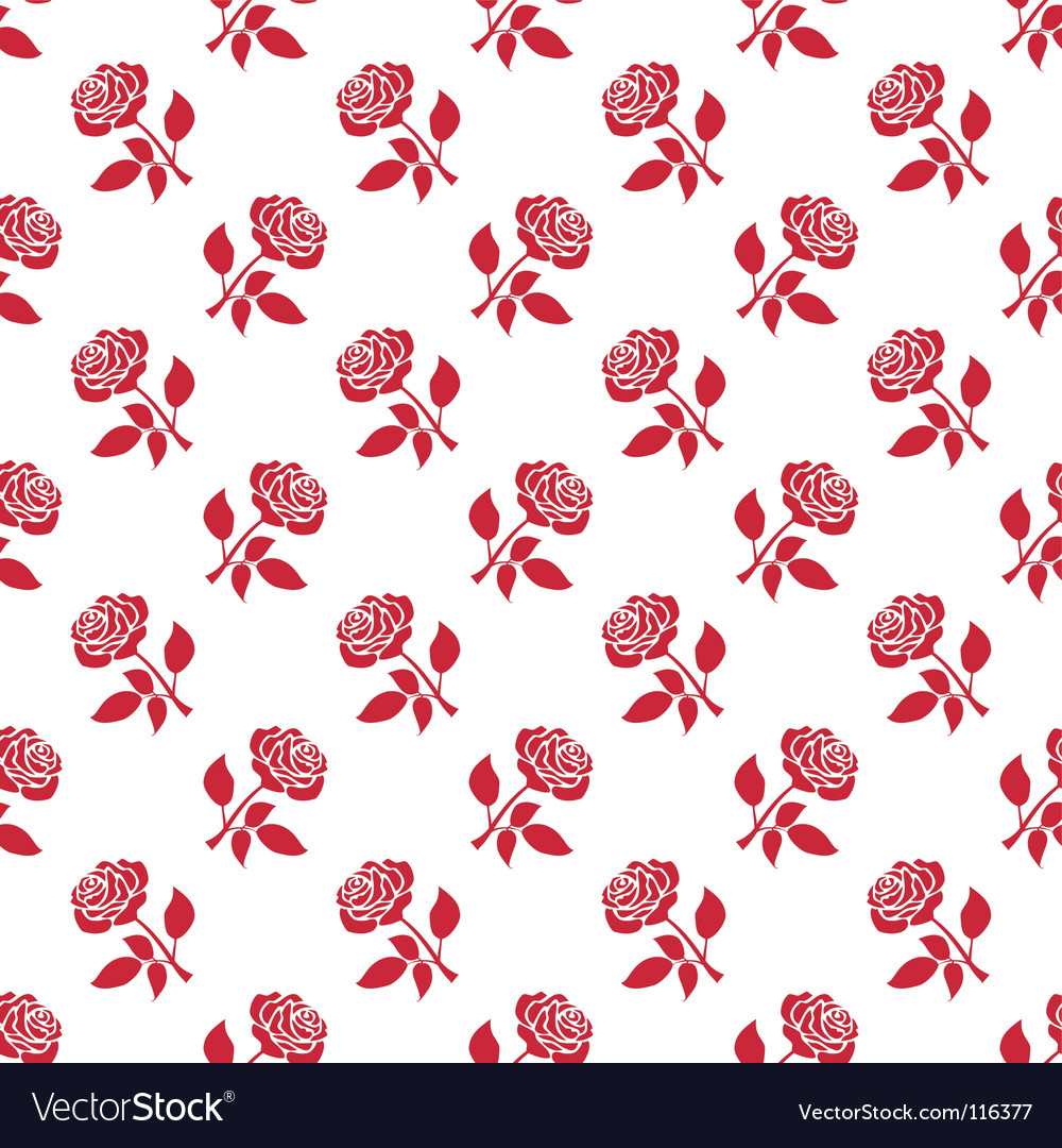 Romantic roses background vector image