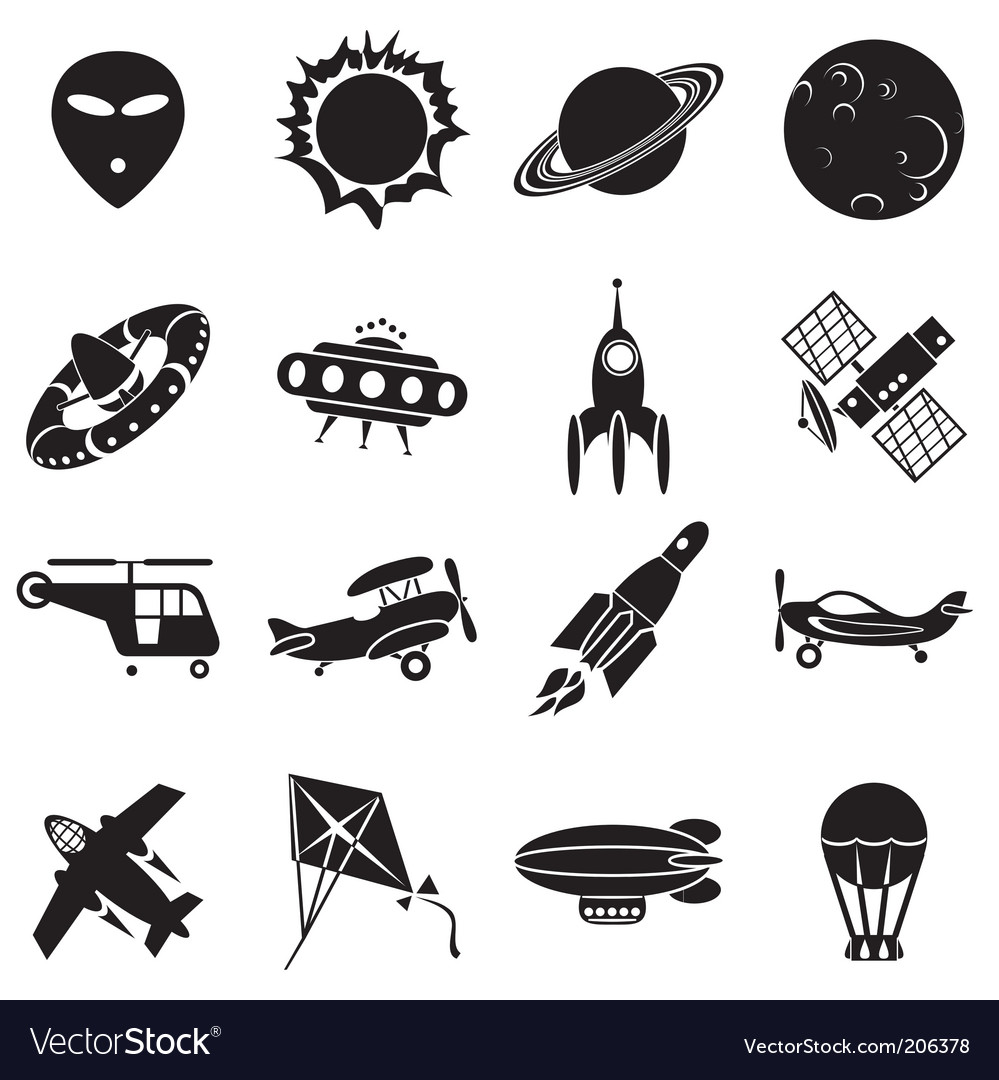Air and space vector image