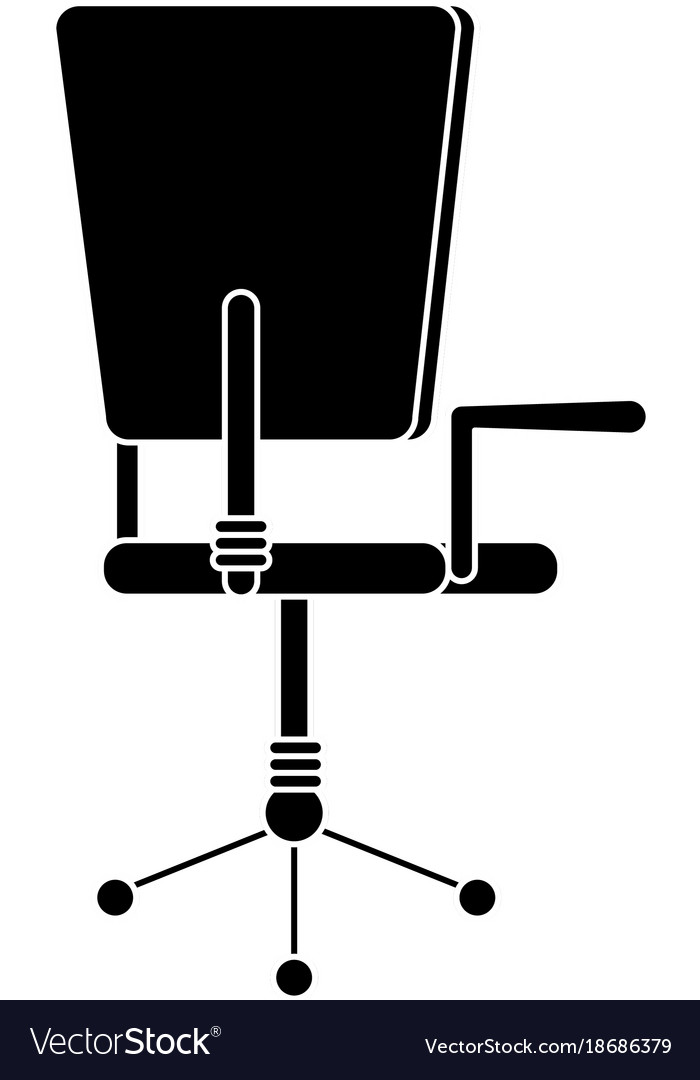 Isolated chair design Royalty Free Vector Image