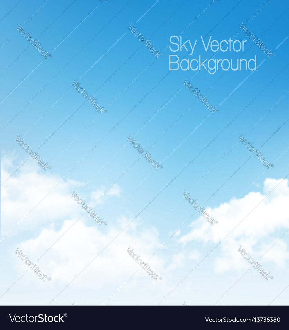 Blue sky panorama with transparent clouds vector image
