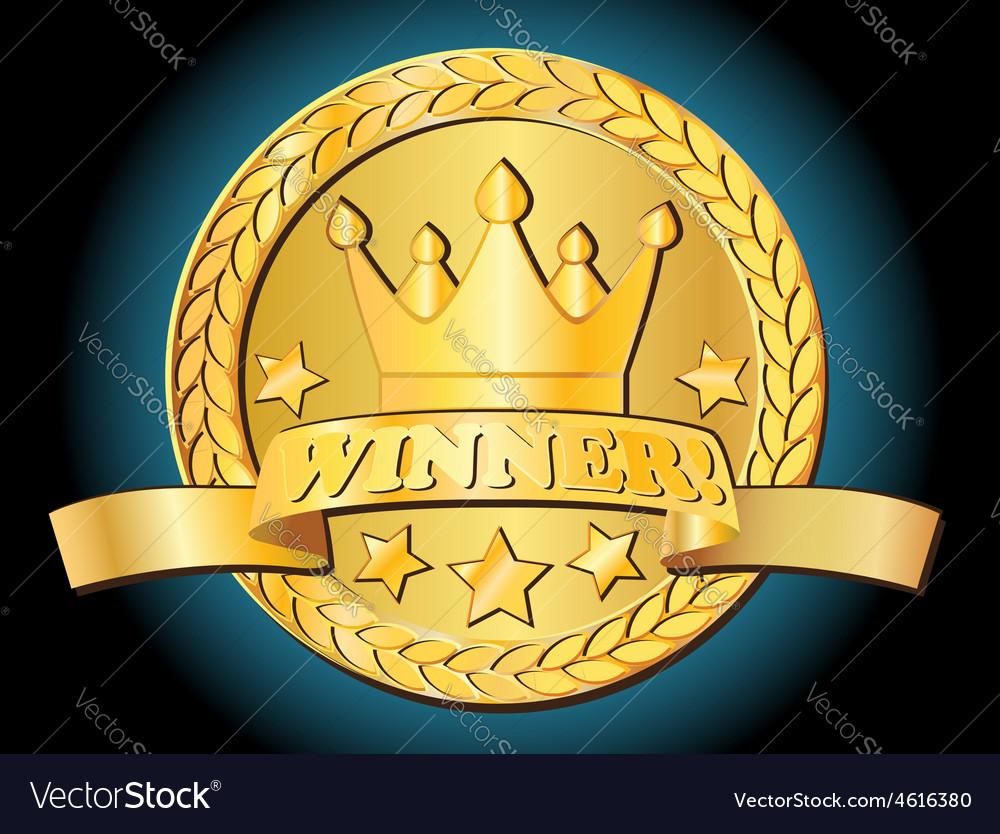 Gold award vector image