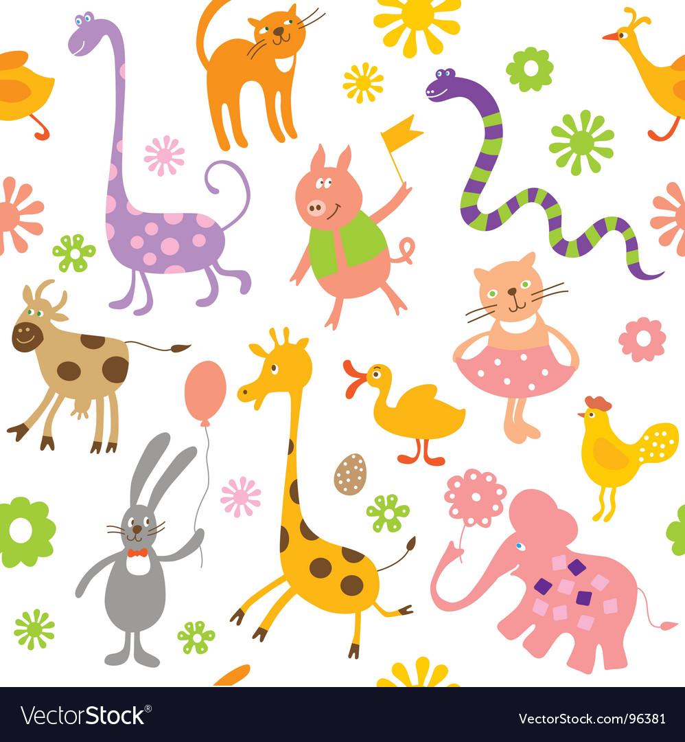 Cartoon animals vector image