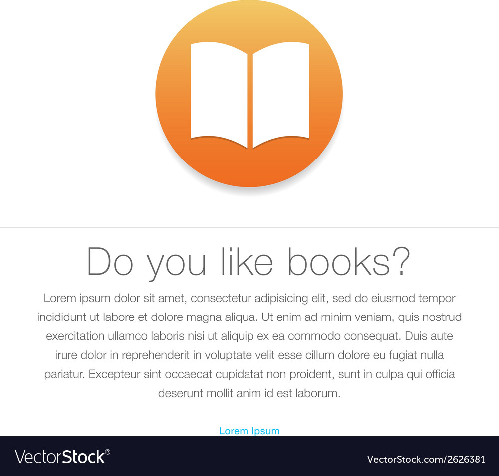 Ebook icon E-book symbol vector image