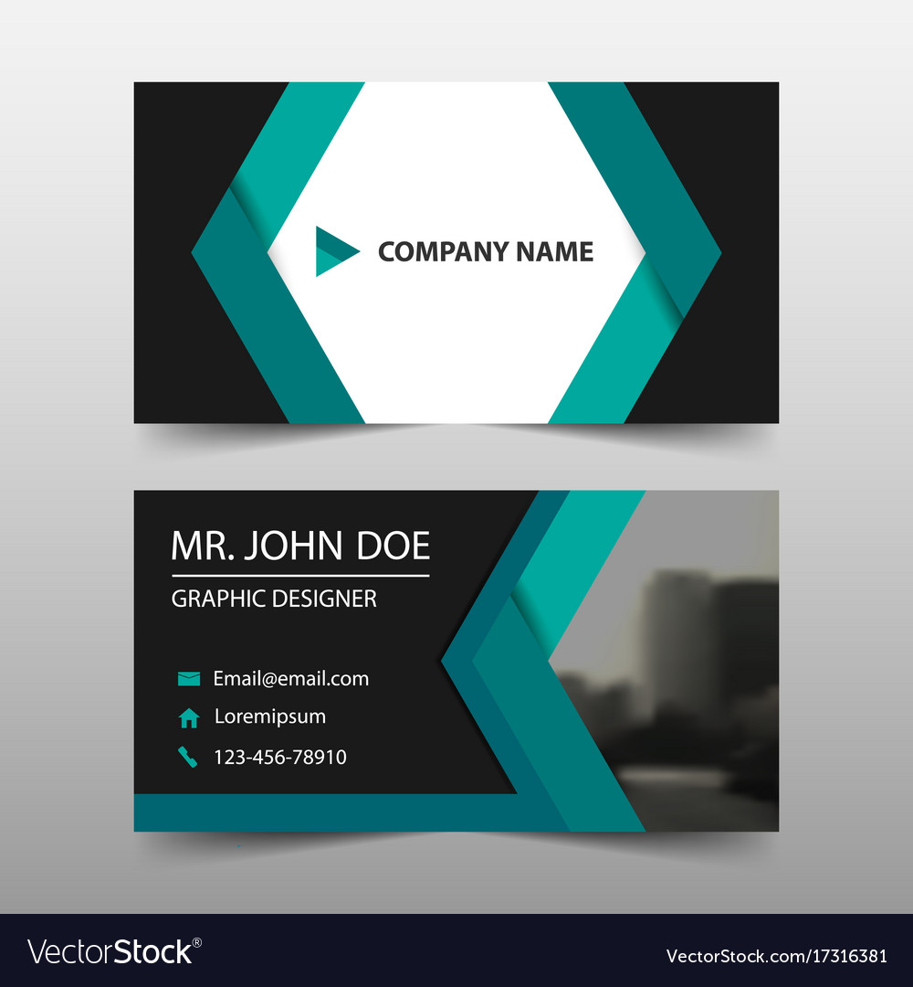 Green abstract corporate business card name card Vector Image